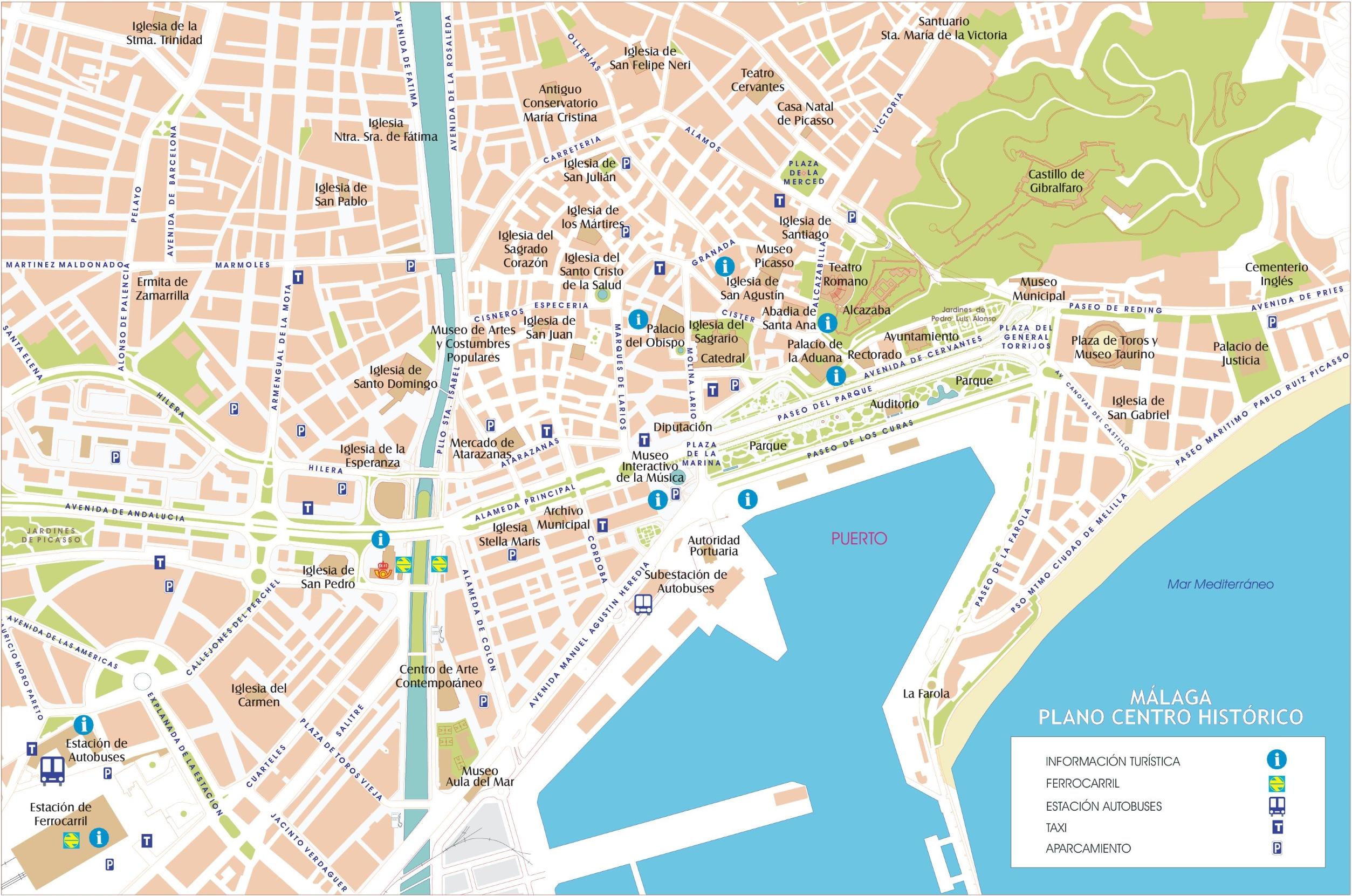 malaga-street-map