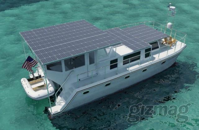 barca pannelli solari