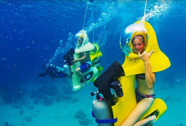 scuba-doo underwater scooter