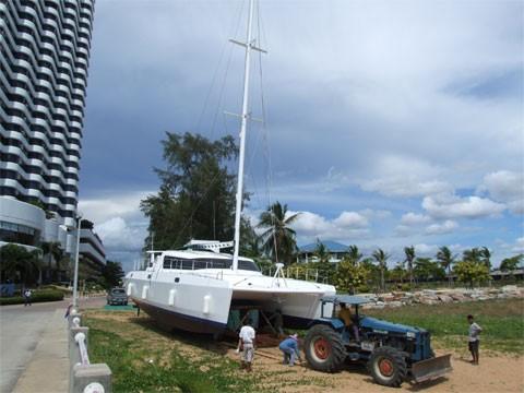 trasporto del catamarano