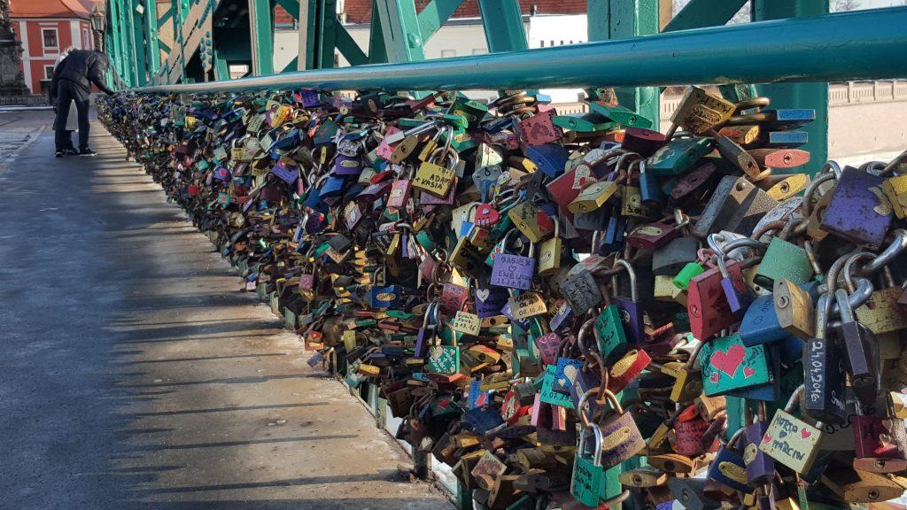 Il ponte dei lucchetti karpacz